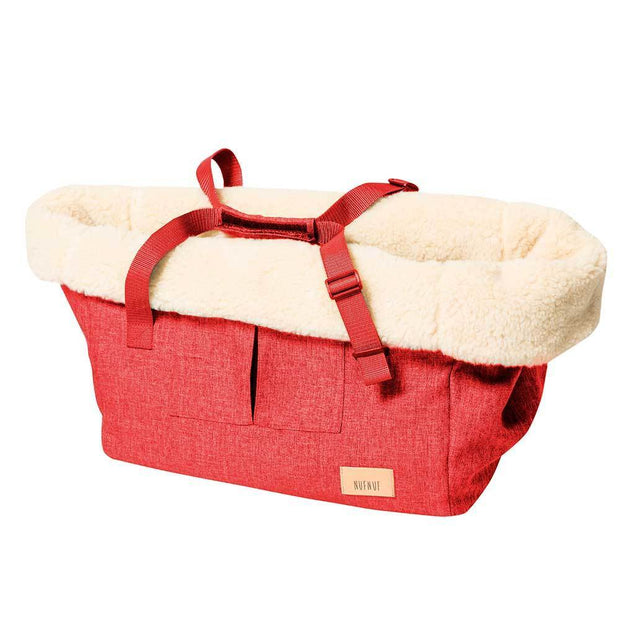 Year-Round Dog Carrier with Removable Fleece in Apple Red