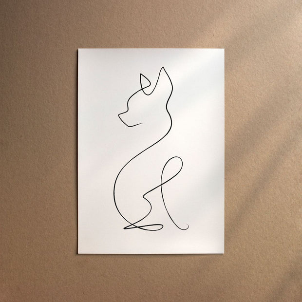 "Custom Breed Minimalist Dog Artwork in White (18"" x 24"") - This Dog's Life"