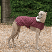 Quilted Waterproof Dog Jacket with Sherpa Fleece Collar in Merlot - This Dog's Life