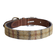 Italian Leather Balmoral Check Tweed Dog Collar - This Dog's Life