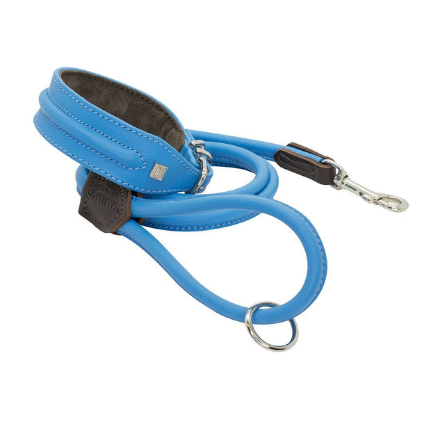 Horizon Hound Leather Collar in Blue Azure - This Dog's Life