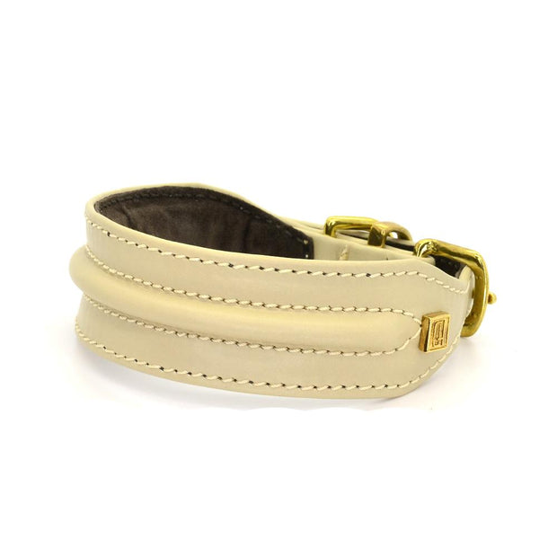 Horizon Hound Leather Collar in Cream - This Dog's Life