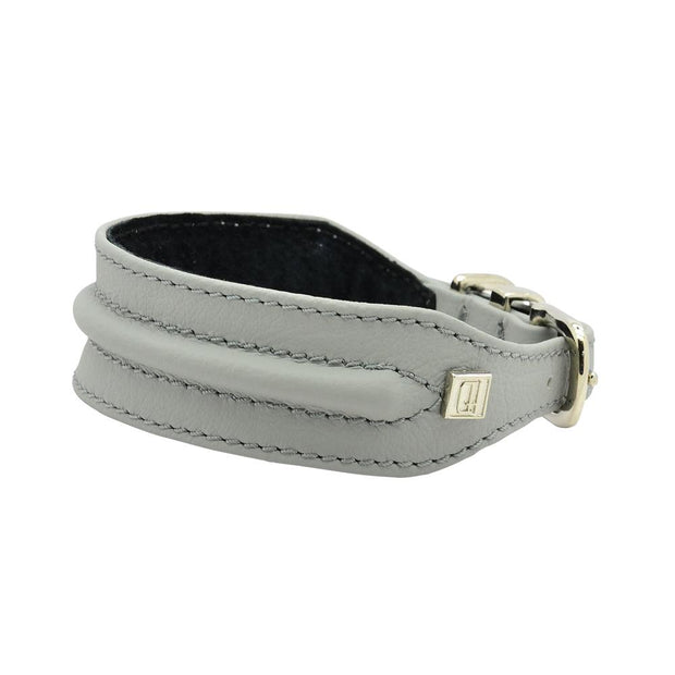 Horizon Hound Leather Collar in Gray Steel - This Dog's Life