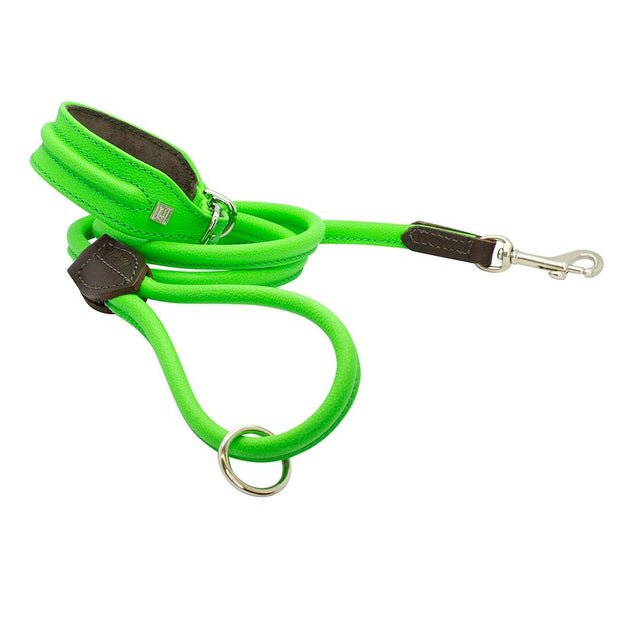 Horizon Hound Leather Collar in Green Lime - This Dog's Life