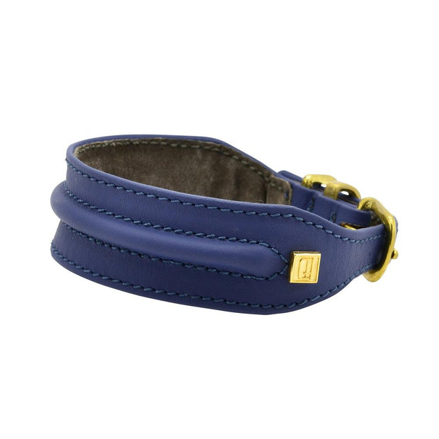 Horizon Hound Leather Collar in Navy Blue - This Dog's Life