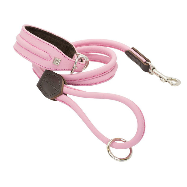 Horizon Hound Leather Collar in Pink Cotton Candy - This Dog's Life