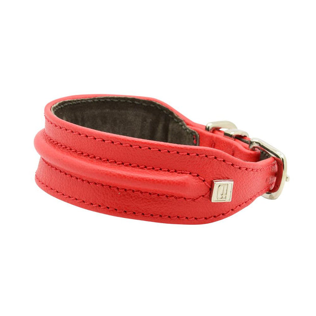 Horizon Hound Leather Collar in Red Cherry - This Dog's Life