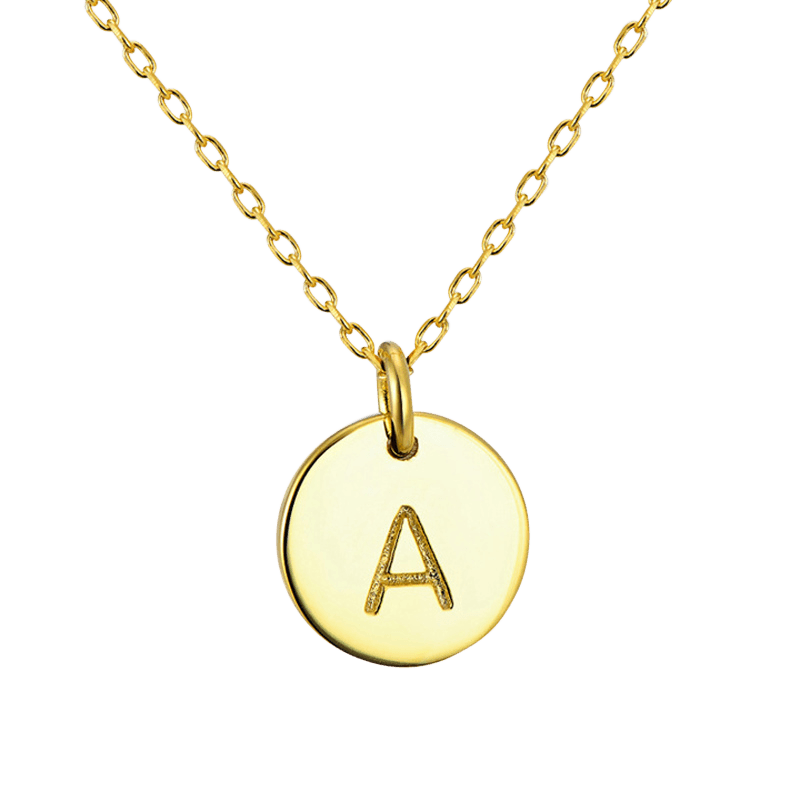 Dog Initial Pendant Necklace