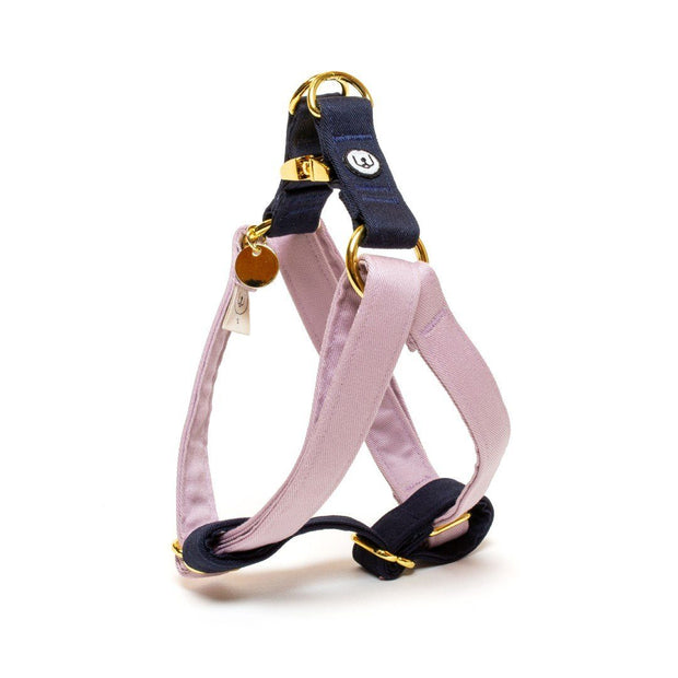 Two-Tone Canvas Easy Step-In Harness in Blossom Pink and Grass Green - This Dog's Life