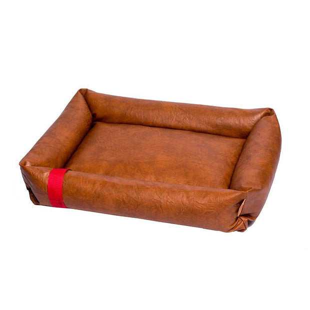 Classic Faux Leather Dog Bed