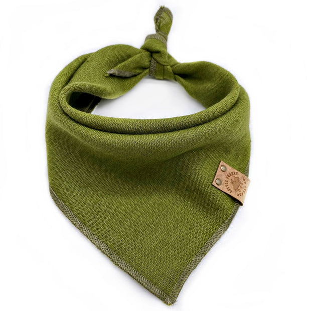 Linen Bandana in Grasshopper Green - This Dog's Life