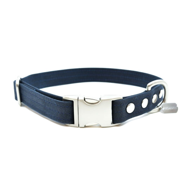 Vegan Eco-Friendly Canvas Collar in Charcoal Gray - This Dog's Life