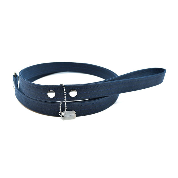 Vegan Eco-Friendly Canvas Leash in Charcoal Gray - This Dog's Life