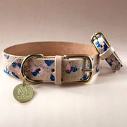Matching Leather Dog Collar and Bracelet Set in Mint - This Dog's Life