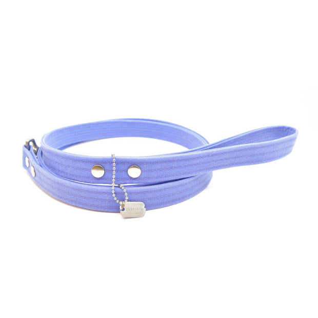 Vegan Eco-Friendly Canvas Leash in Periwinkle Purple - This Dog's Life