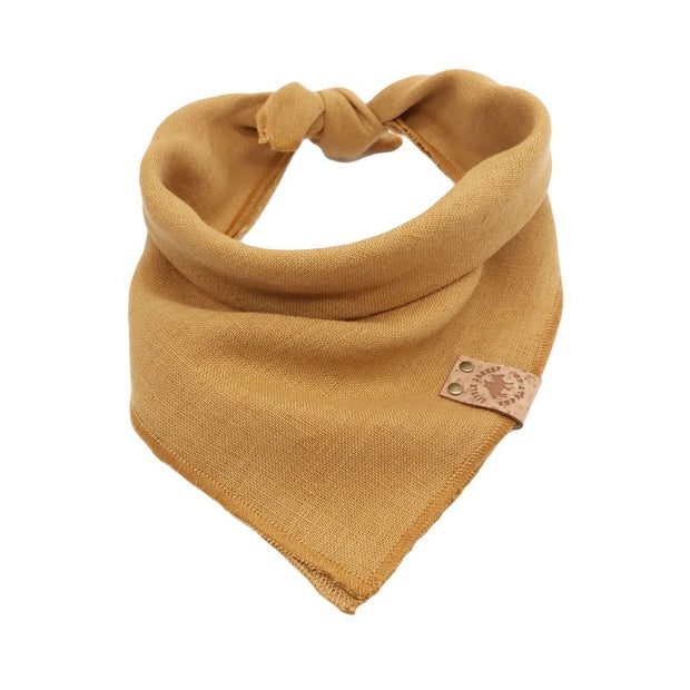 Linen Dog Bandana in Honey Yellow