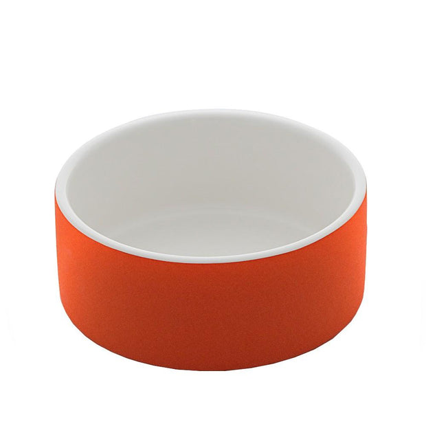 Antibacterial Natural Cooling Dog Water Bowl in Orange Crush - This Dog's Life