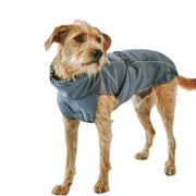 High-Performance Quilted Dog Jacket in Slate Gray