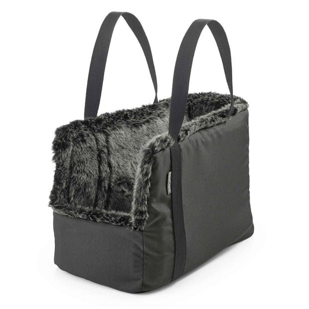 Dog Carrier With Inner Faux Fur Anthracite - This Dog's Life