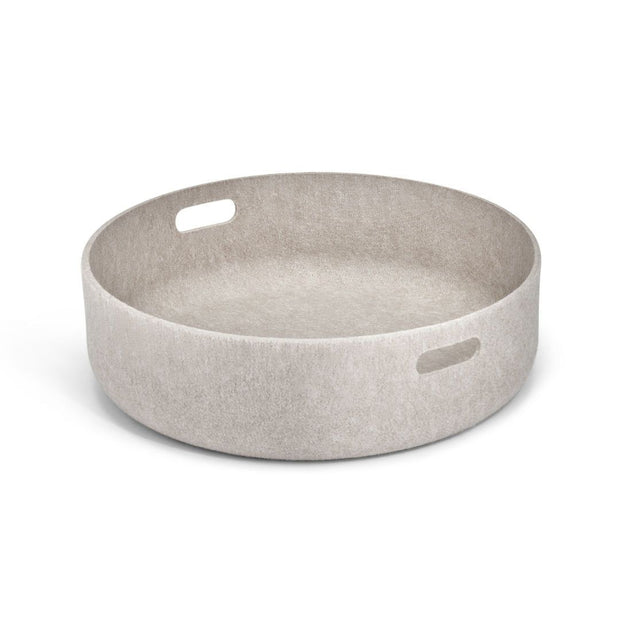 Sustainable Felt Dog Toy Basket in Natural Biscuit - This Dog's Life