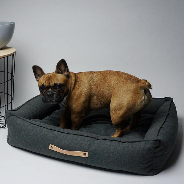 Luxury Modern Dog Bed in Charcoal - This Dog's Life