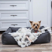 Faux Fur Luxury Dog Blanket in Print