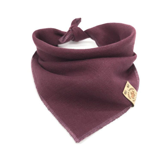 Stonewashed Linen Bandana in Cranberry