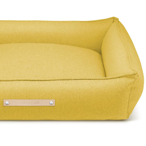 Luxury Modern Dog Bed in Mustard
