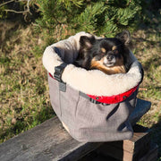 Year-Round Dog Carrier with Removable Fleece in Light Gray - This Dog's Life