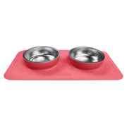 All-in-One Non-Slip Dog Bowl in Coral