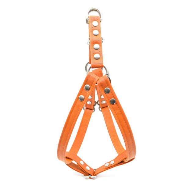 Vegan Eco-Friendly Canvas Harness in Tangerine Orange - This Dog's Life