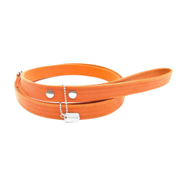 Vegan Eco-Friendly Canvas Leash in Tangerine Orange - This Dog's Life