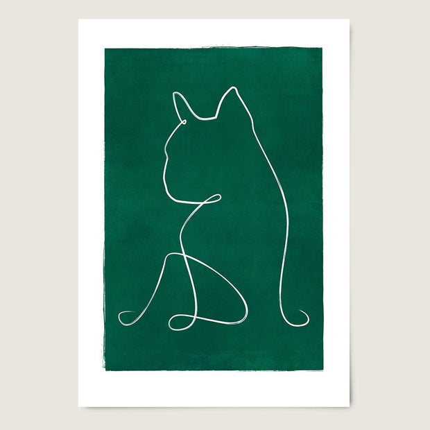 "Custom Breed Minimalist Dog Artwork in Green (18"" x 24"") - This Dog's Life"