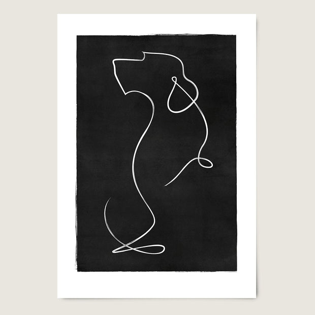 "Custom Breed Minimalist Dog Artwork in Black (11"" x 17"") - This Dog's Life"