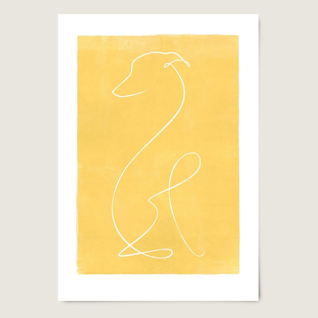 "Custom Breed Minimalist Dog Artwork in Yellow (18"" x 24"") - This Dog's Life"