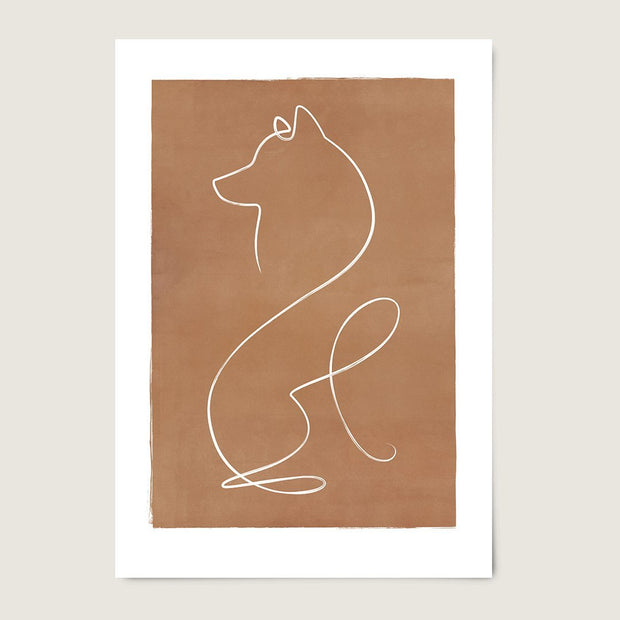 "Custom Breed Minimalist Dog Artwork in Brown (24"" x 36"") - This Dog's Life"