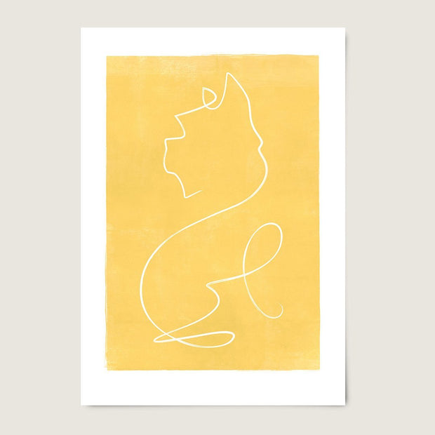 "Custom Breed Minimalist Dog Artwork in Yellow (11"" x 17"") - This Dog's Life"