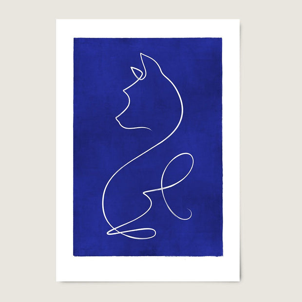 "Custom Breed Minimalist Dog Artwork in Blue (24"" x 36"") - This Dog's Life"