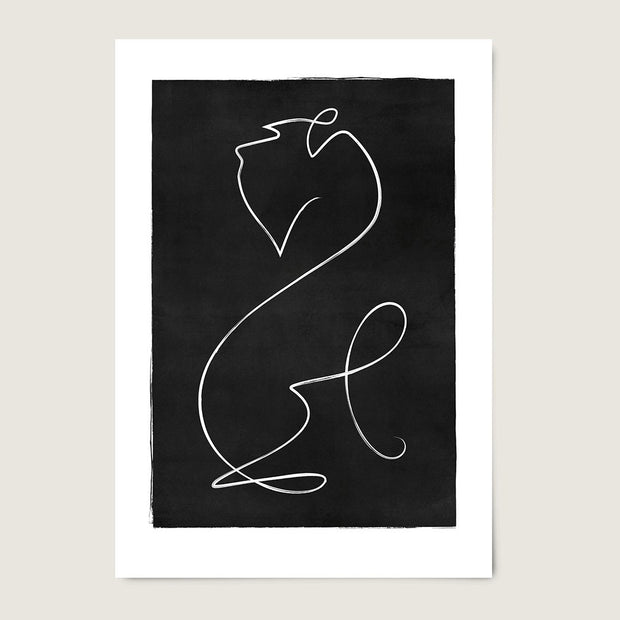 "Custom Breed Minimalist Dog Artwork in Black (18"" x 24"") - This Dog's Life"