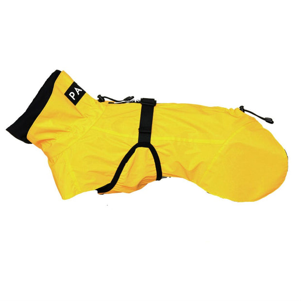 Reflective High-Visibility Dog Raincoat in Bright Yellow - This Dog's Life