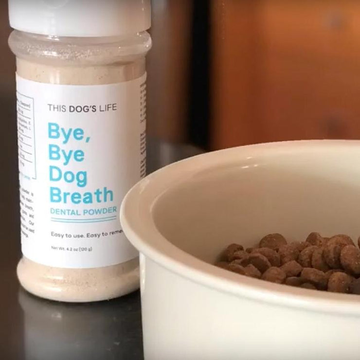 25% Off Your First Order <br>Bye, Bye Dog Breath Dental Powder - This Dog's Life