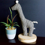Giraffe Squeaker Toy in Moroccan Print - This Dog's Life