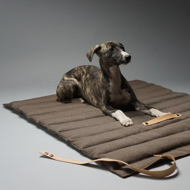 Quilted Dog Travel Mat in Espresso - This Dog's Life