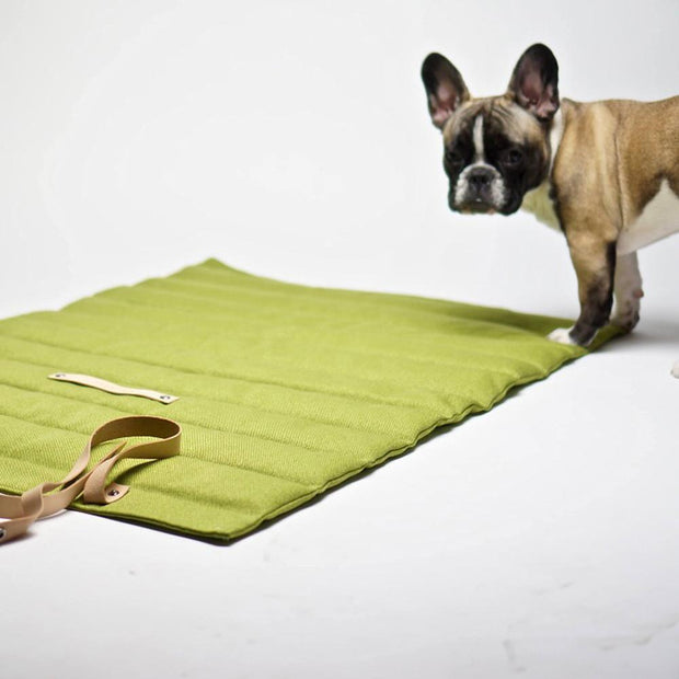 Quilted Dog Travel Mat in Biscuit