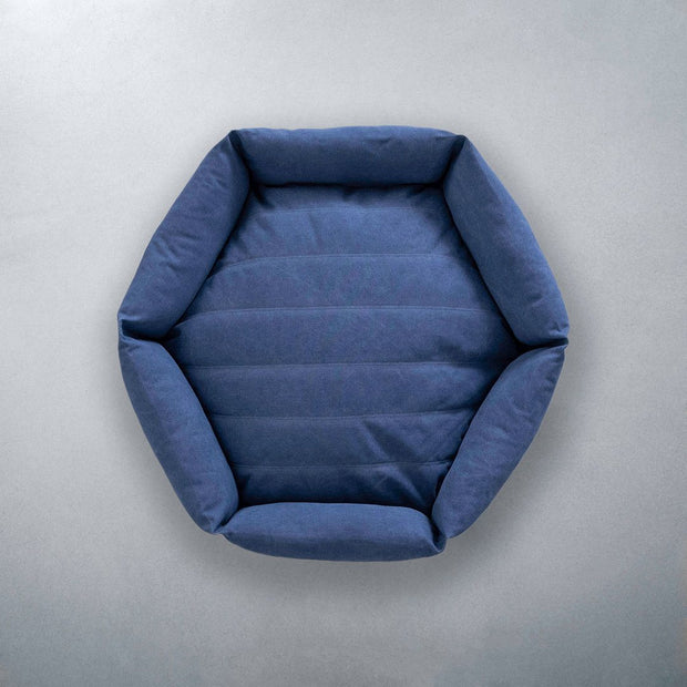 Hexagon Dog Bed in Ocean - This Dog's Life