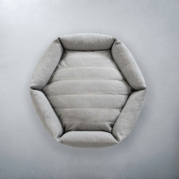 Hexagon Dog Bed in Stone - This Dog's Life