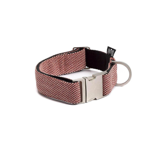 Adjustable Dog Collar in Scarlet Red Weave - This Dog's Life