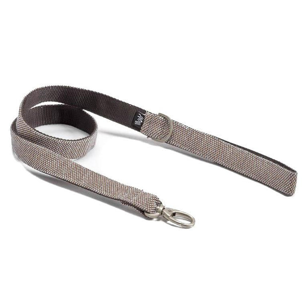 Adjustable Dog Leash in Cocoa Brown Weave - This Dog's Life