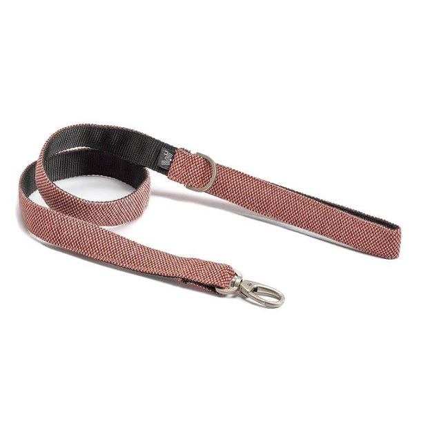 Adjustable Dog Leash in Scarlet Red Weave - This Dog's Life