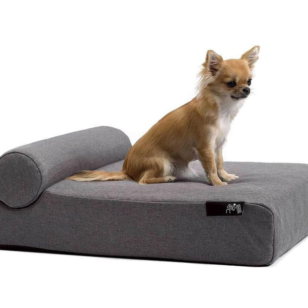 Memory Foam Dog Bed With Pillow in Silver Gray - This Dog's Life